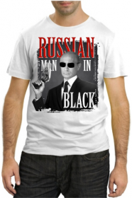 Russian Man in Black